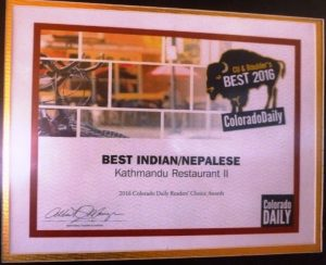 Best Indian-Nepalese Restaurant 2016