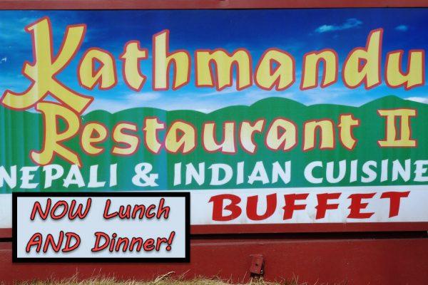 Kathmandu Restaurant Boulder Street Sign
